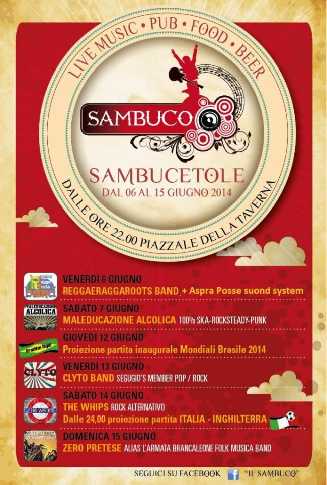 Programma serate sambucetole sagra gnocchi il sambuco 2014